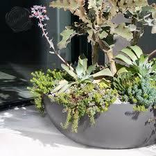 concrete planters for sale modern interior design large shallow round bowl planter pot