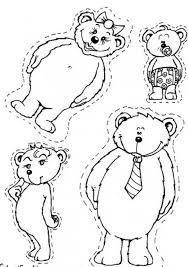 bear family coloring pages hellokids