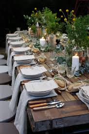 Casual Table Setting Gorgeous Garden Party With Lzf Lamps Outdoor Dining Rustic