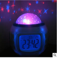 light projection alarm clock oussirro music starry sky projection color change star sky digital