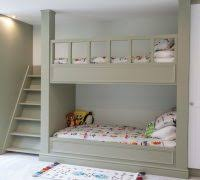 Bunk Beds With Wardrobe How To Build Bunk Beds Transitional With Wardrobe Gray