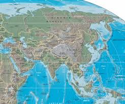 Asia Map Countries Large Physical And Relief Map Of Asia Asia Large Physical And