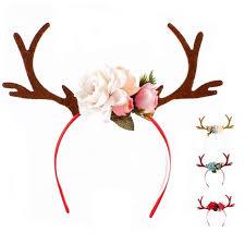 deer headband christmas deer antler headband festive party dressing elk hairhoop