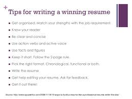 Tips For Writing A Resume Resume Writing For Fresh Graduates