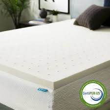amazon com lucid 2 inch ventilated memory foam mattress topper