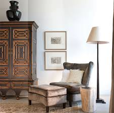 living room armoire gray velvet chair transitional living room catherine dolen