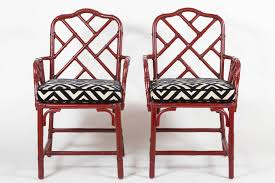 chinese chippendale chairs pair of vintage red chinese chippendale armchairs city of z design