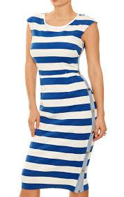 st tropez dress blue u0026 white stripe bodycon day to night summer
