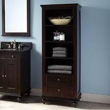 Keller Mahogany Linen Storage Cabinet Dark Espresso Bathroom - Bathroom linen storage cabinets