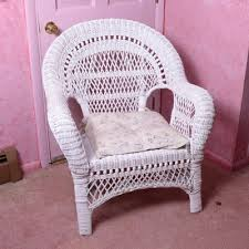 White Wicker Armchair Mid Century Modern Rattan Wicker Chair Ebth