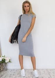 grey bodycon dress east coast midi bodycon dress in grey fearlesss