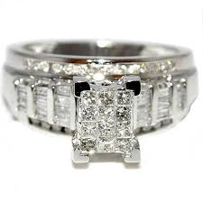 diamond wedding sets princess cut diamond wedding ring 3 in 1 engagement bands white