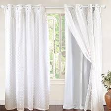 Curtains One Panel Or Two Amazon Com Lush Decor Pom Pom Window Curtain Panel 84 X 50