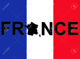 French Flag Pictures France Text With Map On French Flag Illustration Stock Photo