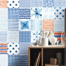 backsplash wall decals shibori watercolor tile decals pack of 24 tile decals