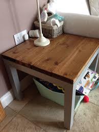 ikea hack annie sloan paint lack table home pinterest