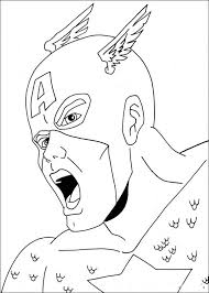 coloring captain america coloring pictures