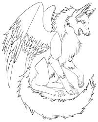 winged wolf coloring pages coloring home