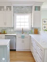 installing backsplash in kitchen coastal kitchen makeover the reveal mosaics kitchens and