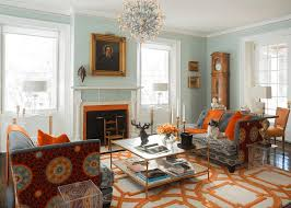 Orange Livingroom 21 Colorful Living Rooms To Crave