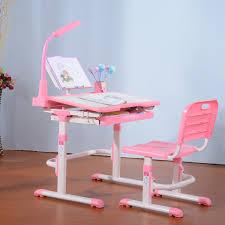 White Children Desk by Cute Pink White Height Adjustable Desk For Children Together