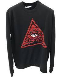 givenchy zip panel sweatshirt in black for men lyst