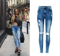 alibaba jeans z92463a 2017 new model women fashion jeans alibaba ladies jeans top