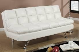 white leather futon sofa poundex white twin size leather sofa steal with storage chaise