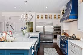 what color appliances with blue cabinets 75 beautiful kitchen with blue cabinets and colored