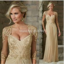 2016 champagne elegant mother of the bride dresses 3 4 sleeve