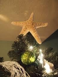 Beach Christmas Tree Topper - florida beaches inspired christmas tree spray painted flocked diy