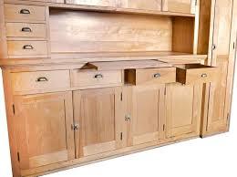 pristine 1920s maple kitchen cabinet with original brass hardware