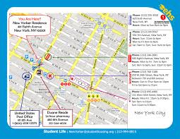 Upenn Map Nyc Student Housing Locations Student U0026 Intern Housing In Nyc