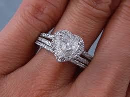heart shaped wedding rings heart shaped wedding ring sets mindyourbiz us