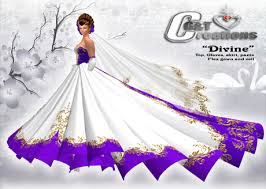white gold and purple wedding second marketplace g t creations pink wedding gown