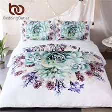bedding outlet stores beddingoutlet green succulents 3d bedding sets duvet cover set