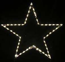 Large Outdoor Christmas Decorations by Lighted Outdoor Decorations Lighted Star Decorations