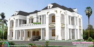luxury bungalow style colonial indian home design kerala home