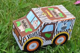 safari jeep coloring page jungle safari animal party jeep truck favor box pdf