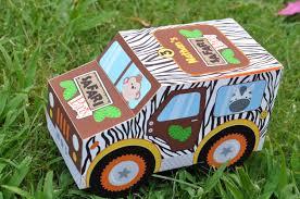 jungle safari animal party jeep truck favor box pdf