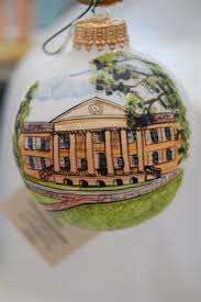 college of charleston frosted glass ornament