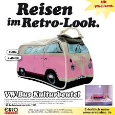 volkswagen bus art vw bus washbag pink vw bulli