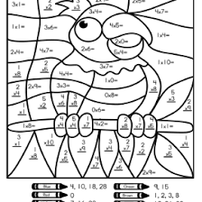 add and color by number math worksheets math color by number