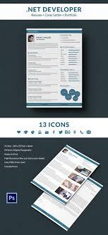 resume portfolio template net developer resume cover letter portfolio template free