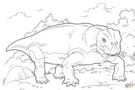 lystrosaurus dinosaur coloring page free printable coloring pages