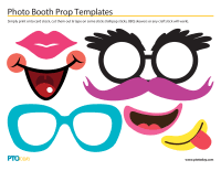 photo booth prop photo booth prop templates pto today
