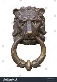 old style decorative lions head knocker stock photo 670958320
