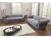 Chesterfield Fabric Sofas Armchairs Couches  Suites For Sale - Fabric chesterfield sofas