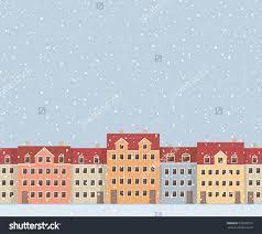 european houses urban seamless pattern of colourful european houses and snowfall