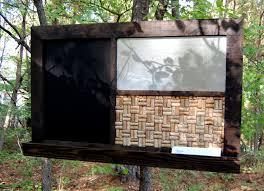 2014 bulletin board chalkboard organizer with shelf wood